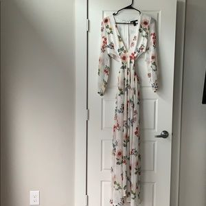 Forever 21 Cutout Floral Maxi Dress